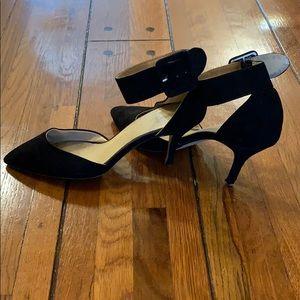 Zara Shoes - ✨SALE!✨ Zara | Black Suede Buckle Heel